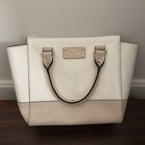 Kate Spade Camryn Wellesley Cream Pebble Leather